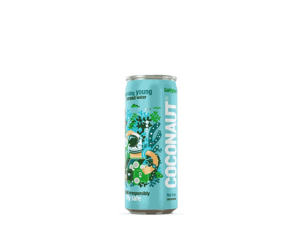 Coconaut gazowana woda z młodego kokosa puszka 0,32l
