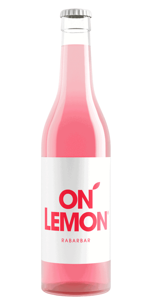on lemon butelka smak rabarbar