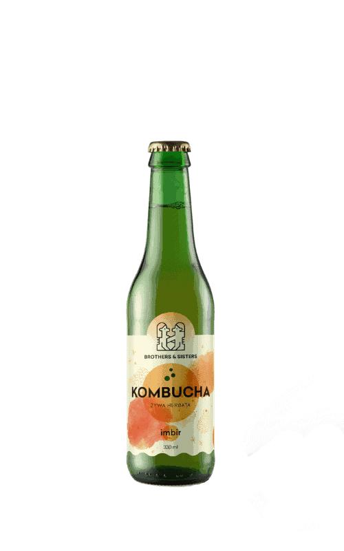 Kombucha Brothers Imbir sklep Butelka 0,33l