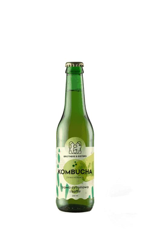 Kombucha Brothers Trawa Cytrynowa Kaffir sklep Butelka 0,33l