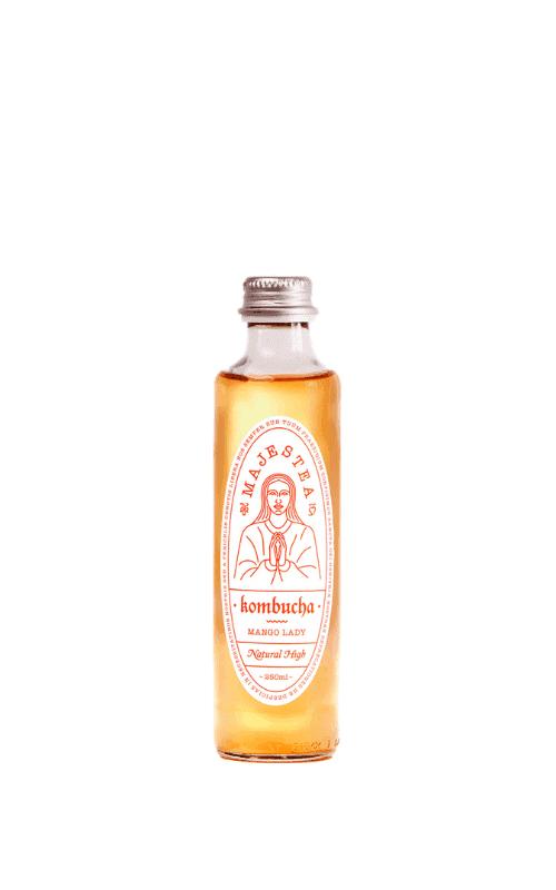 Majestea Kombucha Mango Lady Sklep Butelka 0,25l