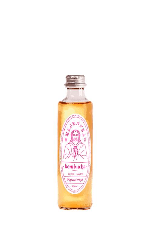 Majestea Kombucha Rose Lady Sklep Butelka 0,25l